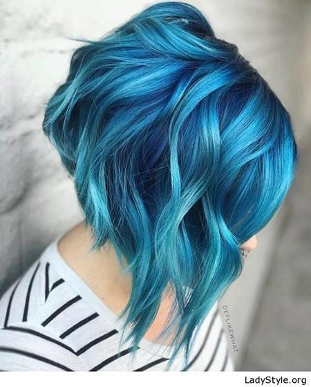 Stacked-Bob-Cut Best Short Blue Hair