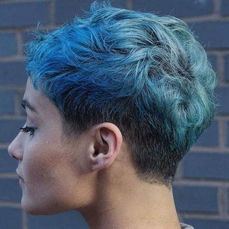 Undercut-Blue-Hair Best Short Blue Hair