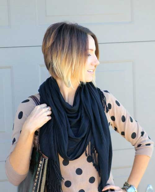 Best-Ombre-Stacked-Bob-Haircut Short Stacked Bob Hairstyles