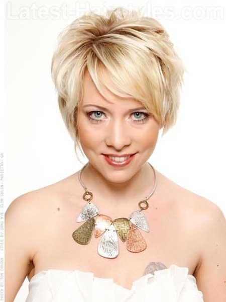 Blonde-One-Sided-Bob Layered Bob Haircuts