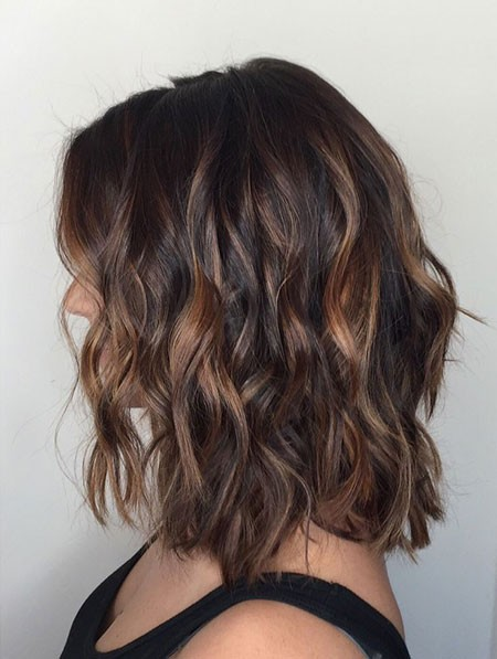 Dark-Wavy-Hair New Short Hair with Color