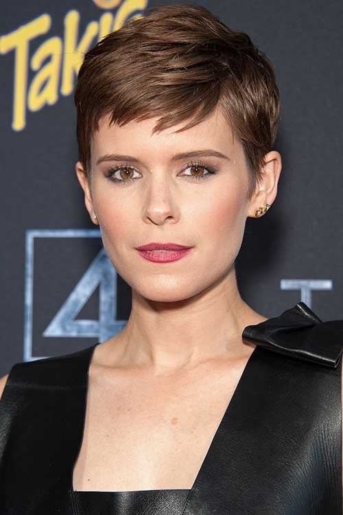 Kate-Mara-Short-Brown-Pixie-Haircut Best Short Pixie Cuts