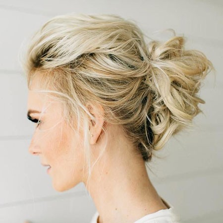 Messy-Updo-Hair Nice Updos for Short Hair