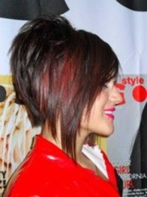 Red-Stacked-Layered-Bob-Hairstyle-for-Girls Short Stacked Bob Hairstyles