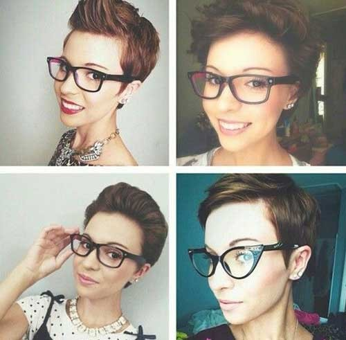 Short-Brown-Pixie-Hair-Style-Idea Best Short Pixie Cuts