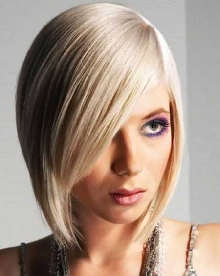 Short-Flat-Straight-Bob Layered Bob Haircuts