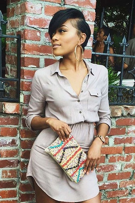 Short-Hairstyle-for-Black-Women-2018 Short Hairstyles for Black Women 2018