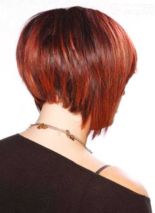 Stack-of-Short-Bob-Red-Hairstyle Short Stacked Bob Hairstyles