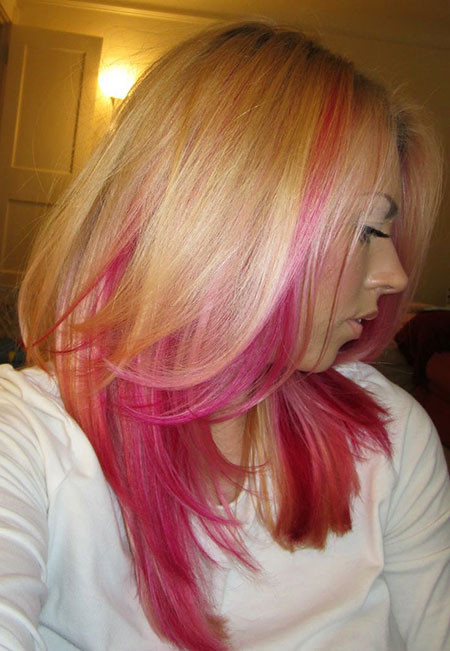 17-Blonde-Hair-with-Pink-Lowlights-615 Blonde And Pink Ombre Hair