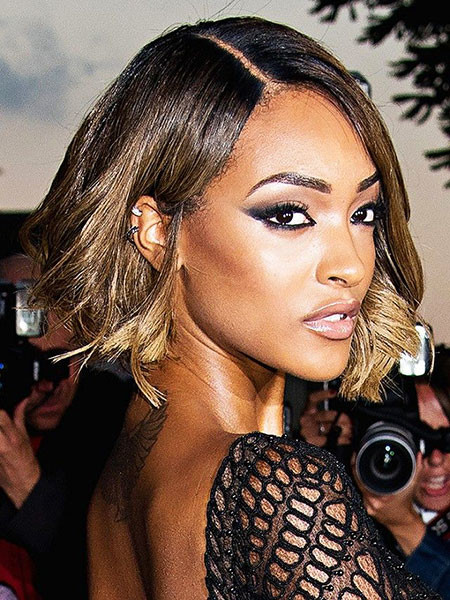 21-Jourdan-Dunn-Make-Up-413 Short Haircuts for Black Women