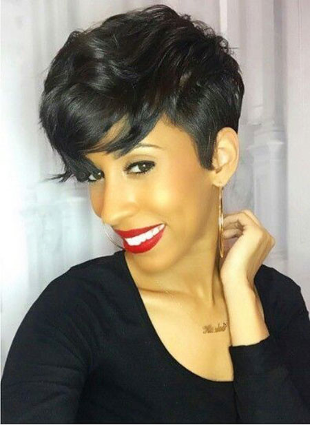 7-Short-Hairtyles-for-Black-Women-2018-399 Short Haircuts for Black Women