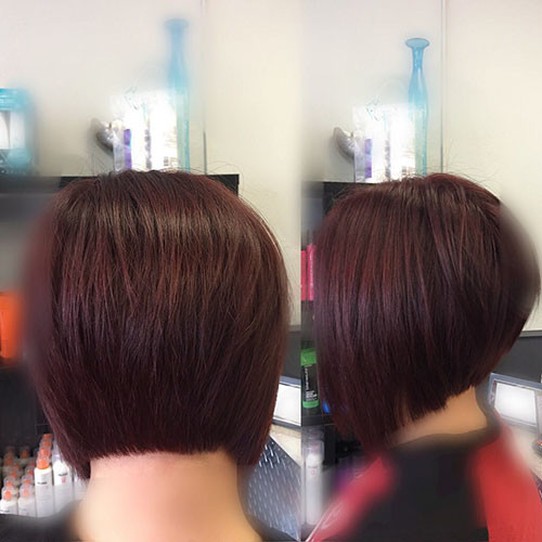 Angled-Bob Best Short Hairstyles for Women 2019
