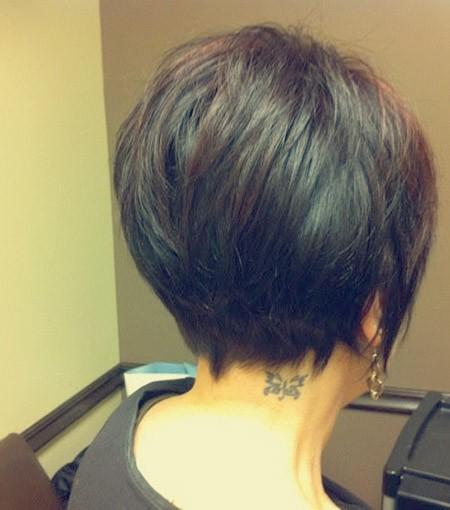 Back-View-of-Short-Layered-Hair Back View of Short Haircuts