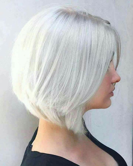 Blonde-Bob-with-Blue-Tinge Best Short White Blonde Hair