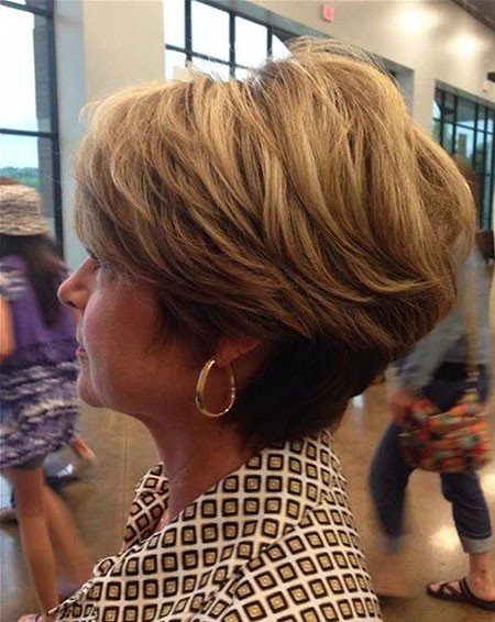 Brown-Short-Hair Short Hairstyles for Women Over 50