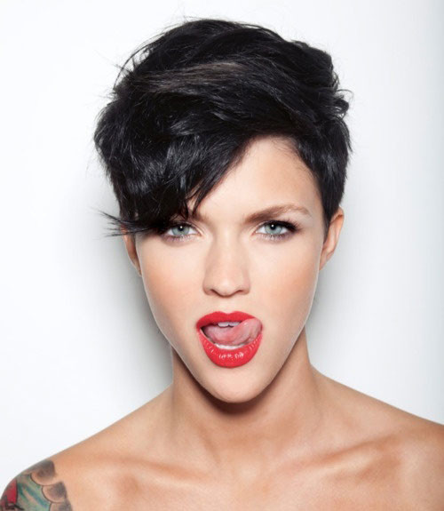 Celebrity-undercut-hair Celebrity hairstyles for short hair