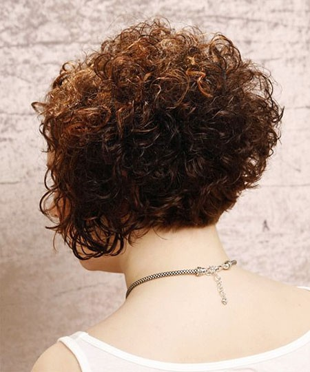 Curly-Short-Inverted-Bob Chic Short Curly Hairstyles for Women