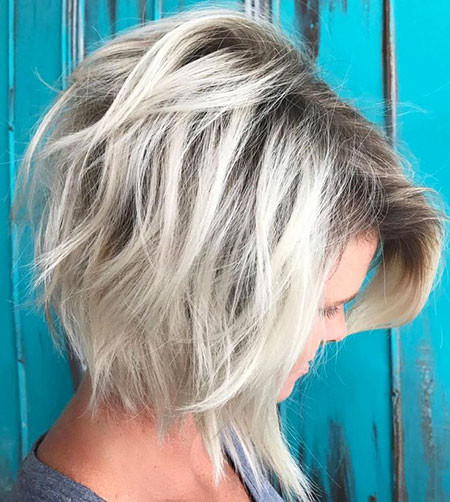 Dapper-Black-Rooted-Layer Best Layered Bob Hairstyles