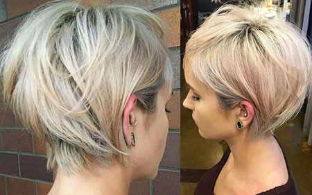 Layered-Blonde-Hairstyle Cute And Easy Hairstyles for Short Hair
