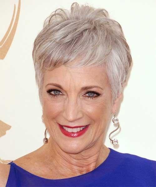 Light-Grey-Short-Older-Hair-for-Thin-Hair Short Pixie Hairstyles for Older Women