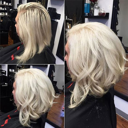 Long-Inverted-Bob Best Short White Blonde Hair
