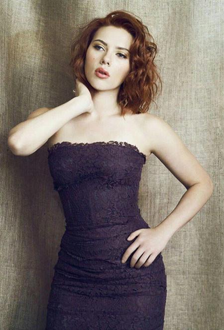 Mid-length-Curly-Hair Best Scarlett Johansson Short Hair
