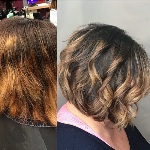 Ombre-Hair-Color Best Short Hairstyles for Women 2019