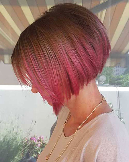 Pink-Ombre-Bob-Hair Trendy Short Haircuts for Women