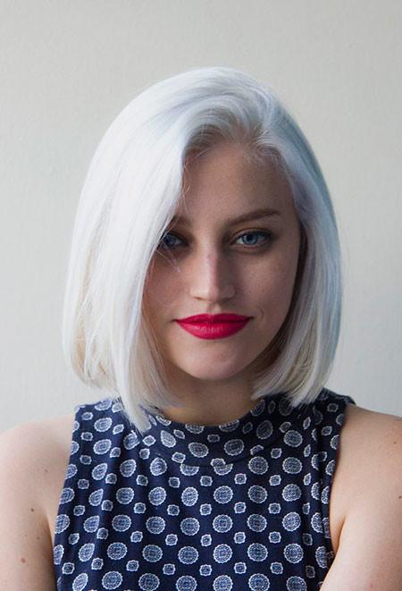 Platinum-Blonde-Bob Best Short White Blonde Hair