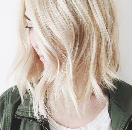 Platinum-Shoulder-Length-Lob Best Short White Blonde Hair
