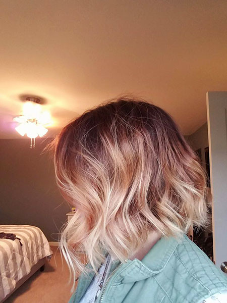 Rose-Gold-Blonde-Ombre Amazing Short Ombre Hairstyles