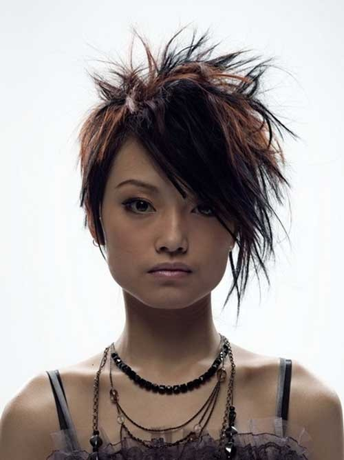 Short-Spiked-Hair-for-Japanese-Girl Spiky Short Haircuts