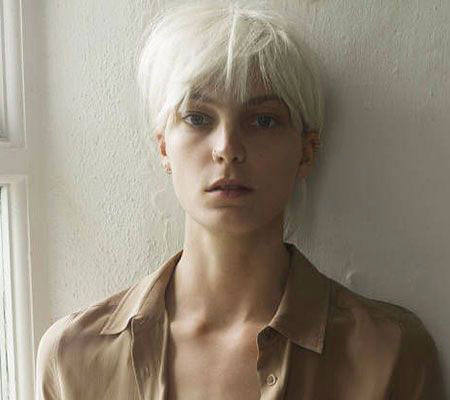Sophisticated-Thin-Pixie-Cut Best Short White Blonde Hair