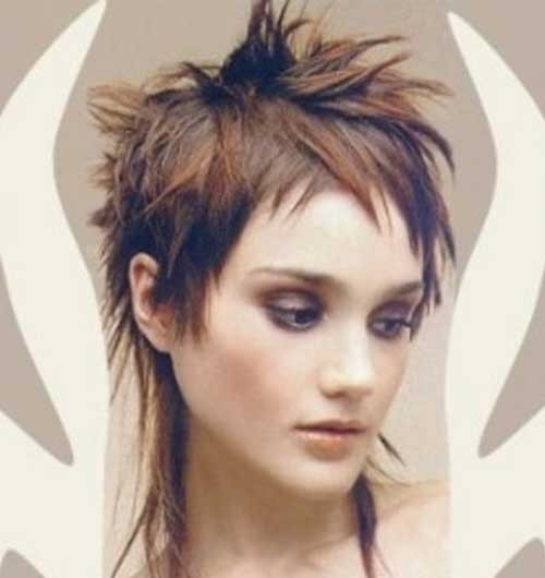 Spiked-Mullet-Short-Haircut-for-Girls Spiky Short Haircuts