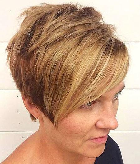 Thick-Asymmetrical-hair Trendy Short Haircuts for Women