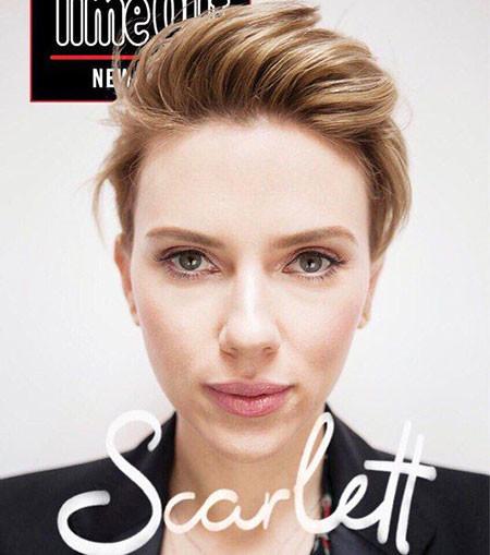 Thick-Hair Best Scarlett Johansson Short Hair