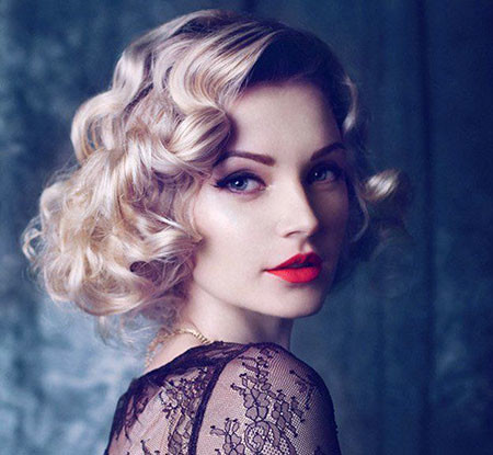 Vintage-Curls Short Hairstyles for Prom