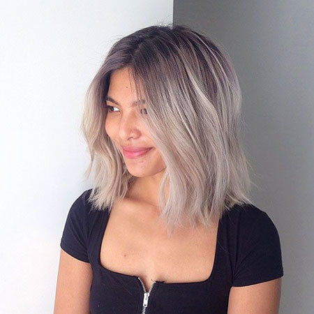 11-Balayage-Grey-Short-Hair-486 Short Ombre Hairstyles