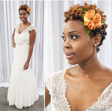 19-Short-Afro-Wedding-Hairtyles-609 Bridal Hairstyles for Short Haircut