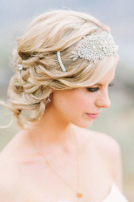 22-Bride-Hairtyle-Short-Hair-612 Bridal Hairstyles for Short Haircut