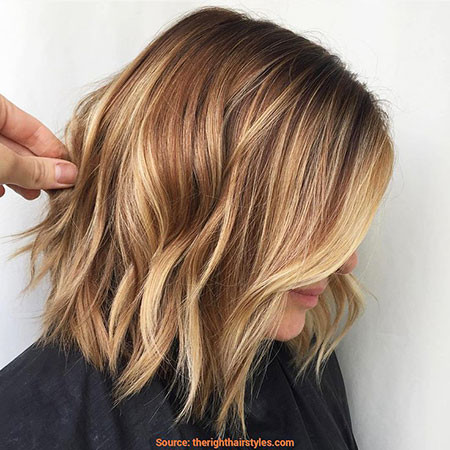 34-Light-Brown-Hair-with-Highlights-584 Short Hairstyles for Women