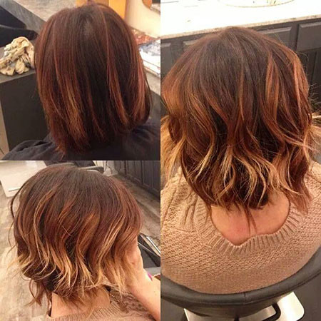7-Red-Brown-and-Blonde-Ombre-Hair-482 Short Ombre Hairstyles