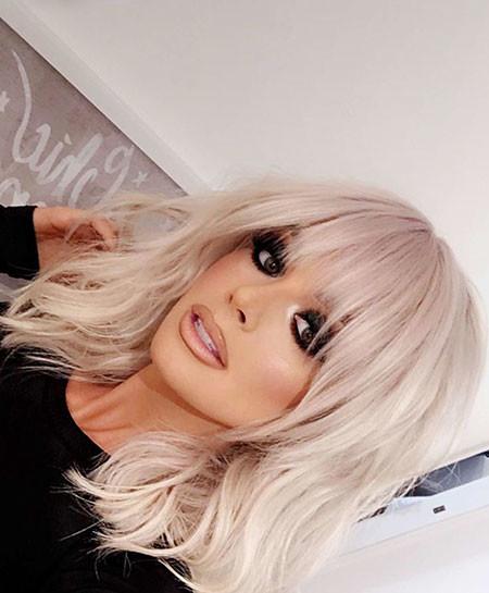 Blonde-Grunge-Hair Short Blonde Hair with Bangs