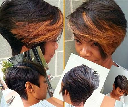 Bouncy-Short-Bob-Hairstyle-with-Brown-Bangs-for-Girls Short Bob Hairstyles for Black Women