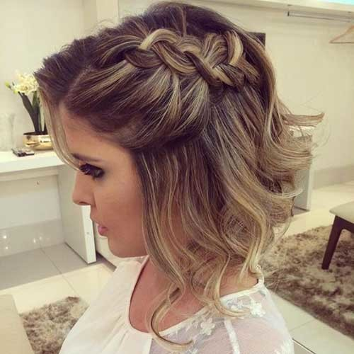 Braided-Wedding-Hair Most Beautiful Short Hairstyles for Weddings