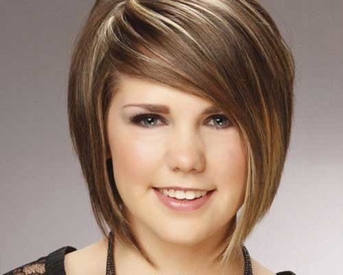 Cute-Chubby-Face-with-Short-Haircut Short Haircuts For Chubby Faces