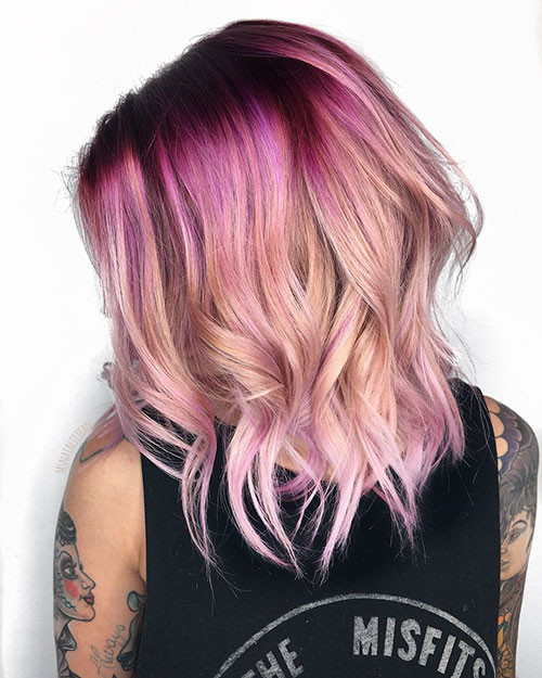 Cute-Hair-Color Best Short Hairstyles for Girls 2019