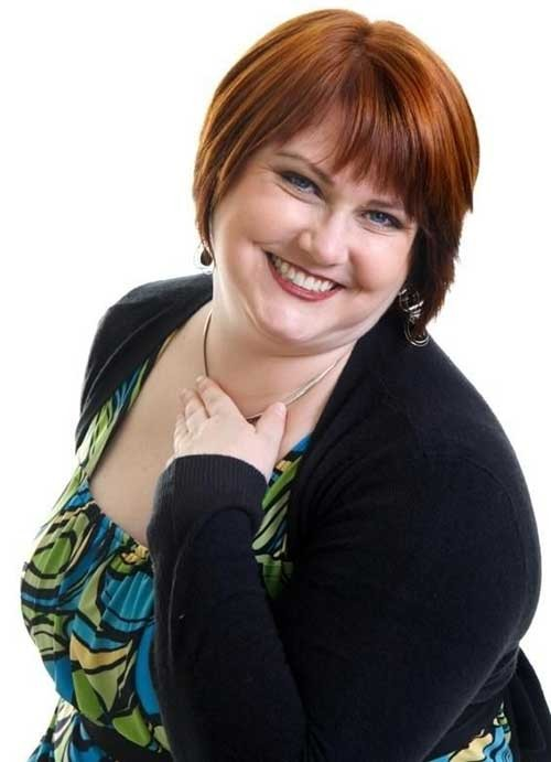 Cute-Red-Short-Pixie-for-Chubby-Faces Short Haircuts For Chubby Faces