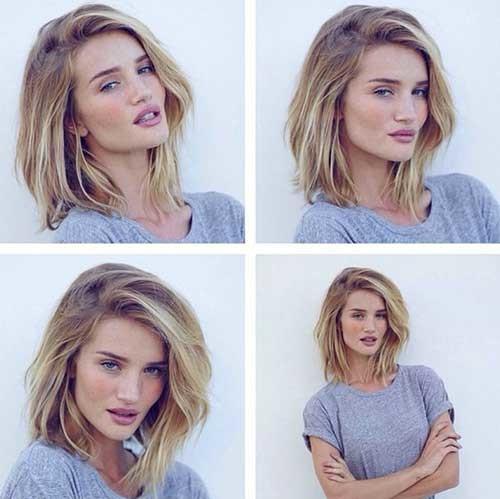 Elegant-Hairstyle-for-Medium-Short-Hair Short Medium Length Haircuts