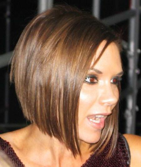 Inverted-Bob-Cut Victoria Beckham Short Hair